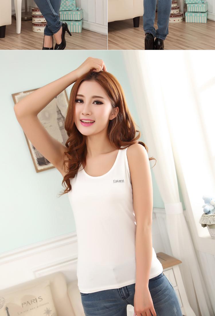 vestidos casual dress 2015 new modal Vest bottoming female Kasen Lansports vest straps bottoming shirt Slim solid summer(China (Mainland))