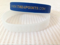 1000pcs/lot design personal logo text words printed cheap gift bands,silicon bracelet,glitter powder filled in bands