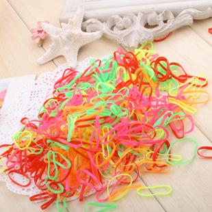 Free Shipping 300Pcs Rubber Hairband Rope Ponytail Holder Elastic Hair Band Ties Braids Plaits 6243(China (Mainland))