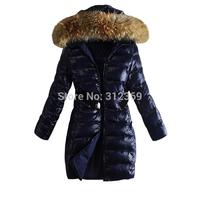 Women Down Jacket Warm Down Parkas 2014 New Arrival Brand Winter Coat Jacket Outerwear Overcoat Hooded Fur Collar Lady Down Coat