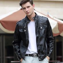 Leather Jacket Men Men's Winter Motorcycle Jackets And Coats Male jaqueta de couro masculina veste de cuir Veste Homme.12BF(China (Mainland))