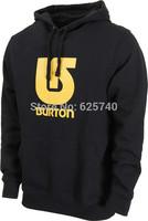 burton hoodie sweatshirt Hip-hop skateboard hiphop 100% cotton sweatshirt burton UBIQ pocket sweats sportswear street clothing