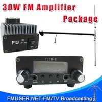FMUSER FU-30A 30W FM transmitter amplifier+0.2w FM exciter+1/2 wave DIPOLE antenna KIT 85~110mhz