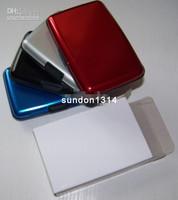 Free shipping Aluminum Wallet Holder 4colors mixed 100pcs/lot
