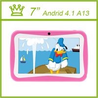 7 Inch Android 4.1 Kids Tablet PC A13 For Kids Children Tablets Capacitive 4GB Dual Camera WIFI Kid Tablet