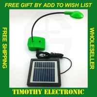 HOT SALE 1PC FREE SHIPPING Folding Portable LED Solar Desk Table Emergency Lamp Green Eco-energy #DT054