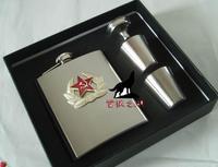 Free shipping Jack Daniels Hip Flask 7oz set Portable Stainless Steel Flagon Wine Bottle Pocket Flask Russian Flagon