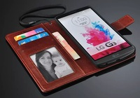 1pcs Luxury Leather Wallet Case For LG Optimus G3 D850 D855 With Stand Phone Bag Flip Style With 3 Card Holder,Business Style