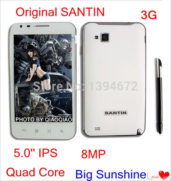 Free shipping Original SANTIN X5W 5.0'' IPS MSM8225Q Quad Core 1GB RAM s960 8MP 3G GPS P780 2400 mha Android Phone Russian,(China (Mainland))
