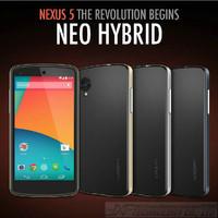 Hot!!!Gold Korean Style Slim Armor SGP Case for LG Nexus 5 Google Nexus 5 N5 E980 D820 D821 Neo Hybird SPIGEN Hard Back Cover
