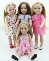 Cheap Full Vinyl Classic Baby  Dolls 18'' Handmade Realistic Kids Hobbies American Style Baby Toys