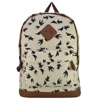 Pigeon,Fox Red Sell Animal Printing Backpack Large Capacity Women Travel Bags High Quality Shoulder Bags WW1930