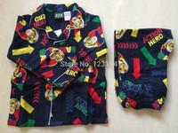 2014 new arrival Fireman SAM boys clothing set long sleeve pajama spring home wear boys sam fireman 1 SET