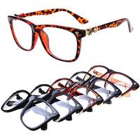 retro gafas square frame glasses leopard goggles oculos vintage unisex brand designer fashion reading glass