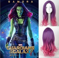 New Guardians of the Galaxy Gamora Wig Synthetic Long Wavy Gradient Cosplay Wig Free shipping