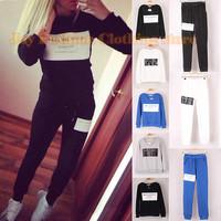 2014 Fashion Brand Sport Suit Women BALLINCIAGA Printed Sweatshirt Hoodies  tracksuits Pullovers Plus size SML