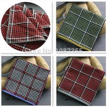 6pcs/lot 100% Cotton Handkerchiefs Classic Vintage Hankies Men Pocket Square Ladies Hankerchief 40*40cm(China (Mainland))