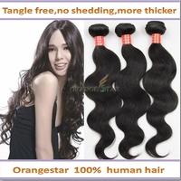5PCS TOP SALE Peruvian Body Wave Virgin Hair10-26 Inches Body Wave Hair Extension Natural Human Remy Hair Orange Star Aliespress