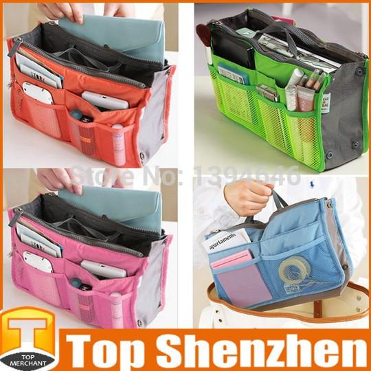 Free shipping New 2014 Nylon Multifunction Make up Organizer bag Purse Women Cosmetic bags Ourdoor Travel Bag Handbag Bolsas(China (Mainland))