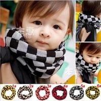 Free shipping Classic children's winter scarf Kids boy girl Ring Scarf Shawl Unisex knitting Collar Neck Warmer 1pc WJ016