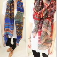 2014 new winter Bohemian national wind diamond geometric pattern oversized shawl scarf wholesale