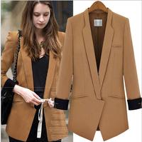 New blazer zara2014 feminino office blazers women jackets coat chaquetas mujer casual veste femme