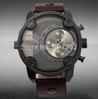 New 2014 new fashion luxury brand DZ sports watches, men's quartz watches, military watches(brown.black)+free shipping