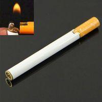 New Creative Cigarette Shap Refillable Butane Gas Flame Cigarette Cigar Lighter ZMPJ276#S2
