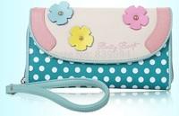 2014 new summer fashion sweet women Large Zip Clutch Wallet