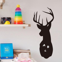 deer head removable blackboard childrens wall decals stickers home decor wallpaper kids adesivo de parede infantil