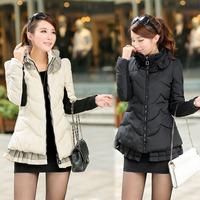 2014 New Women Winter Warm Coat Jacket High Quality Mandarin Collar Lady Down Jacket Fashion Autumn Coat Jacket L XL XXL XXXL