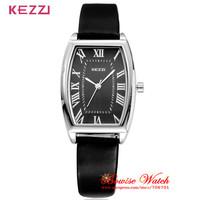 4 Colors KEZZI K-773G High Quality Leather Strap Watch Rectangle Women Dress Watch Quartz Watch BW-SB-938