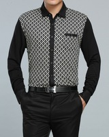 2014 NEW Free shipping men's spring autumn business long sleeve slim fit design shirt