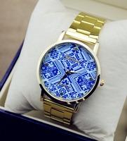 2014 Fashion Gold Watch luxury brand Men And Women Wristwatches Women Dress Watch numeral Couple watch man