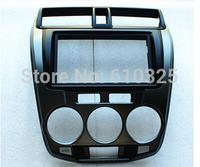 Free Shipping Fascia Audio Panel Frame Dash Kit  For Honda CITY 09~13 Silver Grey Color Retail/Set