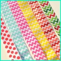 "Elastic Ribbon, 50Yards 5/8"" Width Skinny Elastic Print Headband, Elastic Baby Headband"