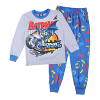 2014 kids Underwear Clothing batman autumn Winter pajamas children's long t-shirt +pants sets baby boys suit cartoon sleepwear