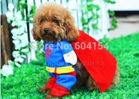 2014 new superman T-shirt ,super-man-dog cloth, dogs cloths,manmade super-dog dress for pet dogs