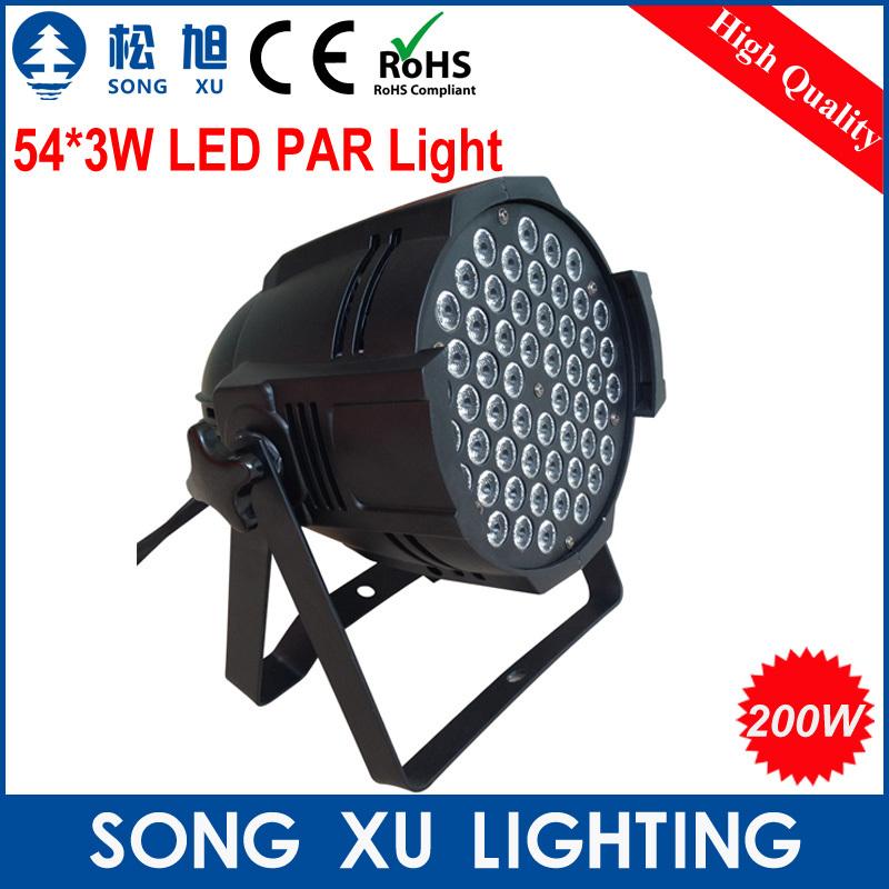 4pcs/lot Constant Current 54*3w RGBW Led Par Light/ Dmx Stage Light Par Cans Light /SX-PL5403(tacitly approve Black Color Shell)(China (Mainland))