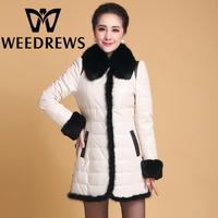 Winter Women's Genuine Sheepskin Down Leather Jackets With Natural Fox Fur Collar Real Mink Fur & Rabbit Fur Patchwork Coat XXXL