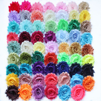 "DHL FREE SHIPPING hair accessories 60yards/lot  2.5"" chic frayed shabby chiffon rose flower trim heabands"