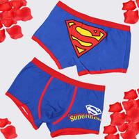 100% Pure cotton cute cartoon pants boxer male underwear cartoon lovers men's women underwear Free shipping