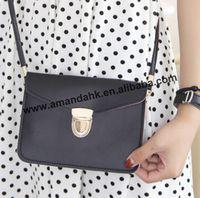 100pcs/lot New 2014 korean style women leather shoulder bag preppy style envelope bag mini Document  bag briefcase free shipping