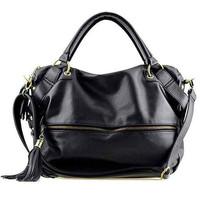 Women messenger bags Bolsas femininas 2014 Fashion female shoulder handbags big black coffee tassel artificial leather bag