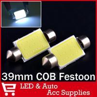 10x Wholesale Car Led Festoon Light Auto C5W COB 31MM 36MM 39MM Bulbs White Over Head Glove Box Reading Lamp