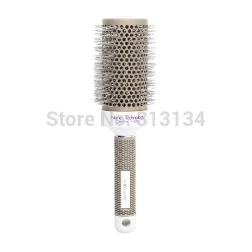 53mm New 1pc Ceramic Ionic Round Comb Barber Hair Dressing Salon Styling Tools Brushes Hairbrush(China (Mainland))
