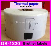 100 x Rolls Brother Compatible Labels DK-11204,17 x 54mm, 400 labels per roll, with Permanent Cartridge, DK 11204, DK 1204