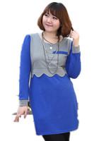 2014 Autumn Winter Women Leisurely large size Ol Skim  waist long-sleeved dress # 2042,Casual Knee Length korean dresses XL-3XL