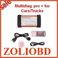 DHL free 2015 newly design V2014.01 Bluetooth Multidiag Pro+ auto scanner multi-diag pro plus for Cars/Trucks OBD2 4GB TF Card