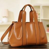 Hot new style women handbag 2014 fashion women leather handbags solid color women messenger bag crossbody shoulder bag hot totes